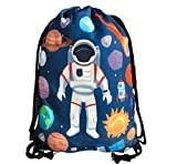 HECKBO® Kinder Turnbeutel mit Astronaut Weltraum Motiven Unisex   Kindergarten, Krippe, Reise, Sport   geeignet als Gymsack, Rucksack, Spieltasche, Sportbeutel, Schuhbeutel - für Mädchen und Jungen