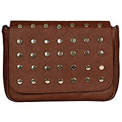 WhiteAsh Womens PU Sling Bags (Brown)
