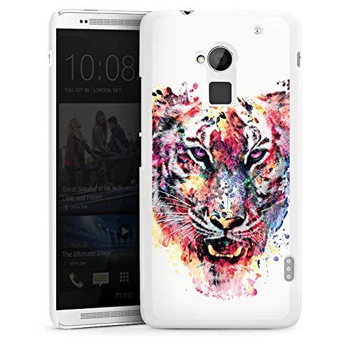 DeinDesign Hülle kompatibel mit HTC One max Handyhülle Case Tiger ohne Hintergrund Aquarell