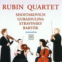 Streichquartette des 20. Jahrhunderts (Schostakowitsch, Gubaidulina, Strawinsky, Bartok)