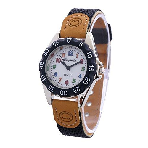 9b844abe4477 Simple Coloridos numerales árabes marcar Fácil de leer Correa de nylon PU y cuero  Relojes de