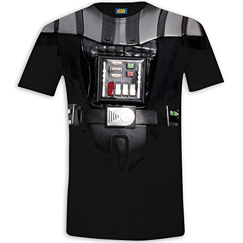 Star Wars T-Shirt in schwarz Darth Vader Uniform mit Alloverprint (in S, M, L oder XL) (S)