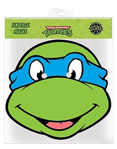 empireposter TMNT Leonardo - Ninja Turtles Papp Maske, aus hochwertigem Glanzkarton mit Augenlöchern, Gummiband - ca. 30x20 cm