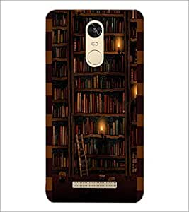 PrintDhaba Library D-4943 Back Case Cover for XIAOMI REDMI NOTE 3 (Multi-Coloured)