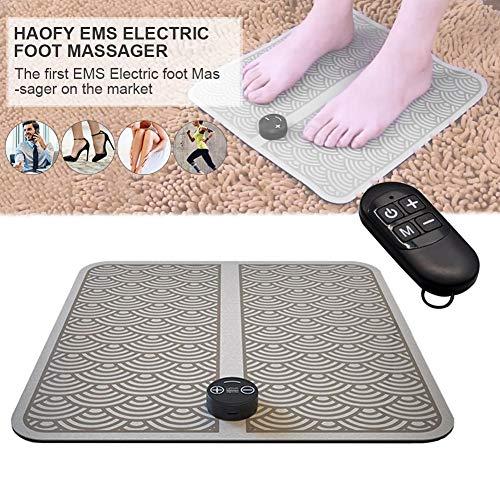 Chirsemey Cuscino per Massaggi - Elettrico USB Ricarica Vibrazione del Piede Pedicure Macchina EMS Massaggiatore per Fisioterapia - per Alleviare Il Dolore Ai Piedi