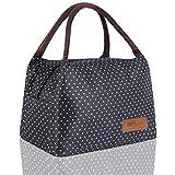 HOMESPON Sac Isotherme à Repas Portable Lunch Bag à Déjeuner Waterproof avec Feuille d'Aluminium Isolée Sac à Main Pliable po