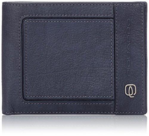 Piquadro PU1241VI Portafoglio, Collezione Vibe, Blu/Grigio