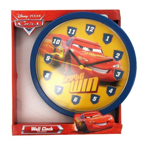 Hama - Reloj de pared infantil, diseño de Cars, color rojo