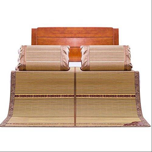 Materasso fresco La stuoia di bambù a doppia facciata domestica può essere piegata 1.8 metri stuoia dormitorio singolo dormitorio bambù stuoia di bambù 0.8-0.9m doppio per inviare poggiatesta Stuoia di bambù fredda ( dimensioni : 1.2m (4 feet) bed )