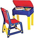#6: Nilkamal Apple Junior's Study Table Set - Red And Blue