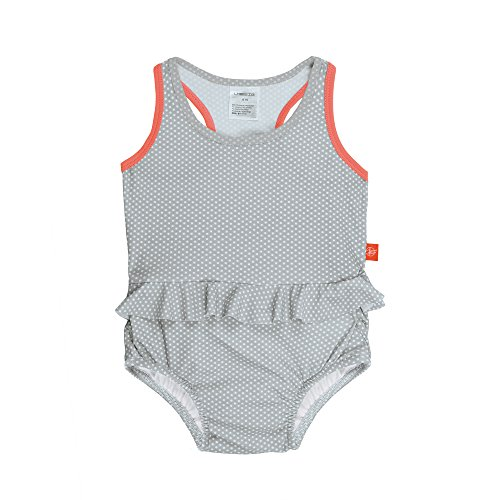 Lässig 1431003213 Baby Tanksuit Badeanzug, Polka Dots, 3 Jahre, blau (Dots Badeanzug)