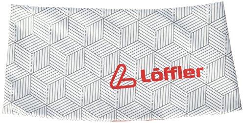 LÖFFLER Damen L-Style Elastic Breit Stirnband, Weiß/Rot, One Size