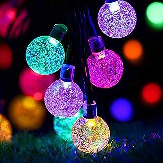 Ankway Cadena Luces solares para decoración de jardín Exterior Valla Patio Navidad Fiesta y Boda