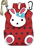 Kinderrucksack Kinder Kleinkind Rucksack Schule Taschen Kaninchen FüR MäDchen (Rot) Bis 3 Jahre