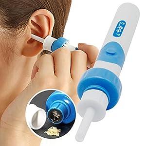 Ohrenreiniger, Ear Wax Cleaner, Ohrwachsentferner, Ohrenschmalz Entferner Ohrwachs Entfernungs Ohr Schmalz Reiniger mit 2 entfernbaren Silikon Aufsatzen fur Kleinkinder,Babies,Jugendliche Erwachsene
