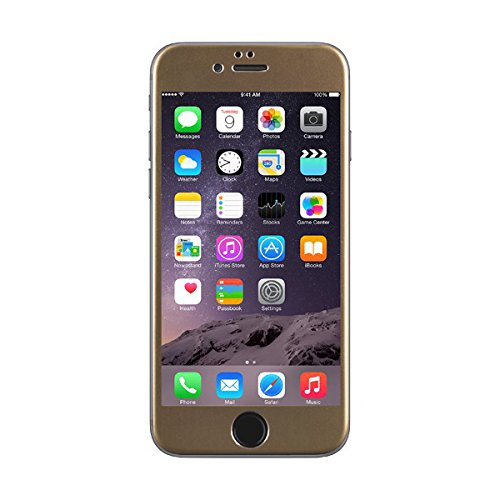 layschutz aus gehärtetem Glas für Apple iPhone 6 in Gold ()
