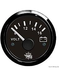 Voltmètre 8/16 V noir/noir