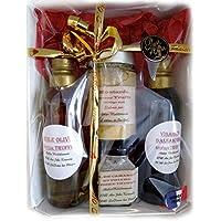 Atelier Méditerranée, Coffret Cadeau Truffe contenant Huile, Vinaigre, Moutarde et Sel