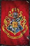 Laminiert Harry Potter Poster Hogwarts Flagge 61x91.5cm. Offiziell lizenziert