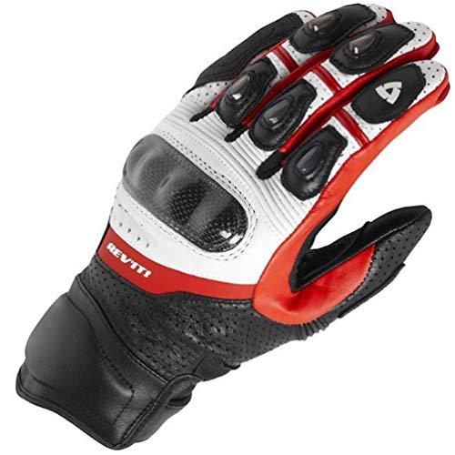 Guanti moto full finger in pelle da uomo, guanti da motociclista da equitazione anti-manganismo in fibra motocross mtb impermeabili antivento 18-23cm