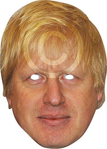 Ausgefallenes Halloween Kleid Party Politiker Character vorgeschnitten Das Gesicht Bedeckend Karte Maske - Borris Johnson, One (Halloween Politiker Kostüme)