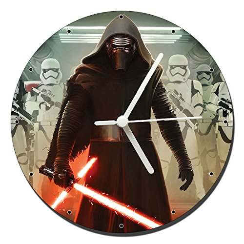 MasTazas Star Wars The Force Awakens El Despertar De La Fuerza Kylo REN Reloj de Pared Wall Clock 20cm