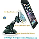 SILTREE (Scratch Resistant) 360 Degree Rotation Reusable Car Magnetic Mobile Holder For Dashboard Magnetic Mobile Car Holder Mobile Holder in Car Dashboard Mobile Holder in Car Windshield Car Mobile Mount For Windshield Magnetic Mobile Holder For Car Best Car Mobile Holder Dashboard Mobile Phone stand Latest Car Mobile Stand Holder Car Grey