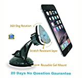 #9: SILTREE (Scratch Resistant) 360 Degree Rotation Reusable Car Magnetic Mobile Holder For Dashboard Magnetic Mobile Car Holder Mobile Holder in Car Dashboard Mobile Holder in Car Windshield Car Mobile Mount For Windshield Magnetic Mobile Holder For Car Best Car Mobile Holder Dashboard Mobile Phone stand Latest Car Mobile Stand Holder Car Grey