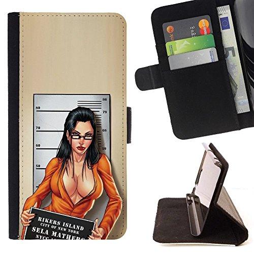 Momo Phone case/protettiva custodia flip wallet in pelle-colpo di tazza modella decolleté Chick-LG G4