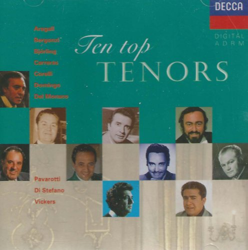 10 Tops Tenors-Pavarotti-Bergonzi-Carreras-Del Monaco
