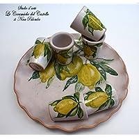 Vassoio Ceramica 6 bicchierini l
