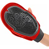 Idepet(TM) Pet Dog Cat Bathing Mittens Massage Gloves Hair Remover Grooming Brushes Perfect for Long and Short Hair Pets