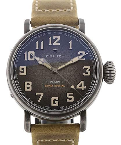 Zenith Pilot 11.1940.6799/1c807 - Reloj automático para Hombre, Esfera Gris granulada, Color Gris
