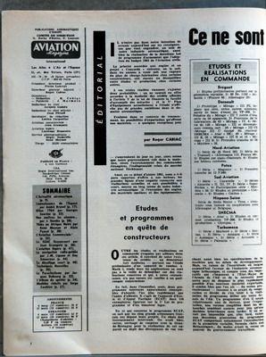 AVIATION MAGAZINE N? 411 du 15-01-1965 SOMMAIRE - L???ACTUALITE AERONAUTIQUE - CONNAISSANCE DE L???ESPACE PAR ANDRE BRUNEL - BILAN 1964 PAR GEORGES SOURINE - NOS MAITRES LES OISEAUX PAR J GAMBU - THIES EN AFRIQUE NOIRE PAR RENE MOYSAN ET ALAIN PASCAL - L???AVIATION COMMERCIALE - LE SGAC GUYANCOURT PAR JEAN GRAMPAIX - L???AVIATION LEGERE - LA NAVIGATION RADIO-GUIDEE PAR JM LIGNON ET GUY AMOUREUX - LE DECOLLAGE COURT - TECHNIQUES NOUVELLES - LE PARACHUTISME PAR JACQUES DUBOURG - L???ALBUM DU SP... par Collectif
