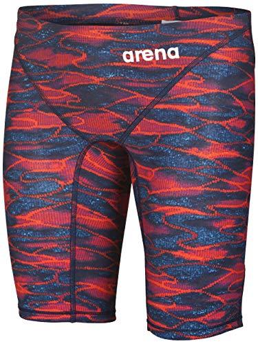 arena Herren Powerskin ST 2.0 Badehose, Herren, Men's Powerskin St 2.0 Jammer Swimming Bottoms, blau/rot, 30
