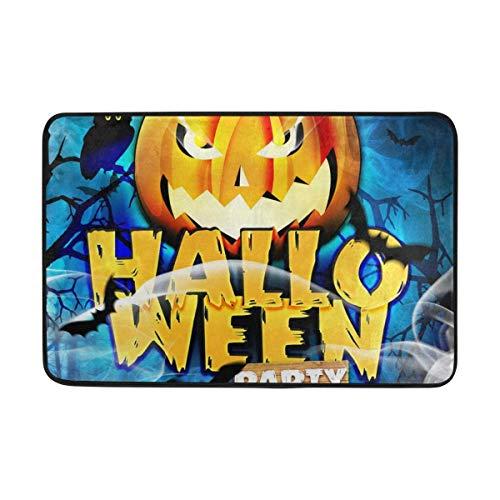 ARTOPB Bath Mat Doormat Template Flyer for Halloween Night Outdoor Mats, Non Slip Door Mat for Entrance Way Front Door Inside Outside 23.6