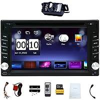 CD GPS reproductor de DVD Autoradio Multimedia Automotive Parts 3D Electrónica de radio auto 2 DIN en el tablero de MP3 estéreo de música de unidad principal del coche en la cubierta insignia del coche del vídeo Cámara trasera