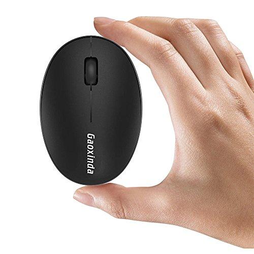 TENMOS Mini Kleine Maus Kabellos Wiederaufladbar Computer Maus, 2.4 GHz Optische Travel Silent Maus Drahtlose mit USB Empfänger, automatisch Schlafen, 3 Tasten, 1000 dpi für Laptop/PC/MAC (Laptop 3-tasten-usb)
