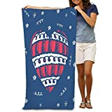 ocaohuahuaba Premium Quality Oversized Beach Towel Pool Towel,Swim Towels for Bathroom,Gym,and Pool 31 In X51 In Greeting Card Print Valentine s Day World Heart Hand Drawn red Pattern