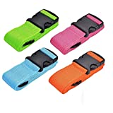 Luggage Straps 4Pack Adjustable Suitcase Belts Travel Packing Belt with Buckle Closure Baggage