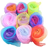 20 Pieces Soft And Comfortable Juggling Scarves Square Dance Scarf For Children Adults Babies