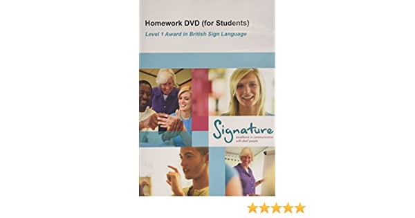 level 1 bsl homework dvd (for students)