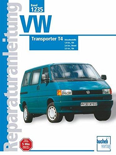 VW Transporter T4, Diesel (ab Jan. 1996-1999): 1,9 Ltr. Diesel,    1,9 Ltr. Diesel TDI,      2,4 Ltr. Diesel.     2,5 Ltr. TDI (Reparaturanleitungen)