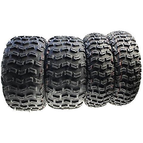 Citomerx - Lote de 4 ruedas para quad (delanteras y traseras, 21 x 7-10 y 20 x 10-9, para Yamaha YFZ 450 R YFM 700 R YFM 660 R, Suzuki LTZ400 LTR 450, Kawasaki KFX 450 R, quad, buggy)