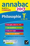Annales Annabac 2017 Philosophie Tle...