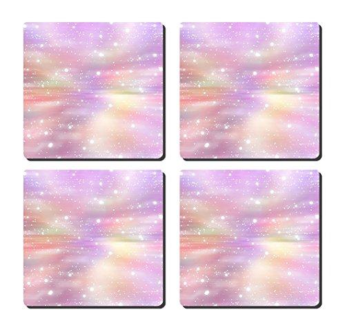 luxcase Design mit Glitter Bunte Creative Küchengeschirr Kork Square Pad Matte Tischset Tisch oder...