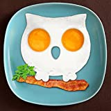 preadvisor (TM) Desayuno Cocina Molde de silicona búho huevo frito molde de calavera de moho Huevo frito Pancake Funny Herramienta de Cocina