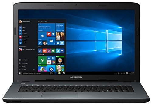 MEDION P7649 43,9 cm (17,3 Zoll Full HD Display) Notebook (Intel Core i7-8550U, 8GB RAM, 1,5TB HDD, 128GB SSD, NVIDIA GeForce 940MX, DVD, Win 10 Home) anthrazit
