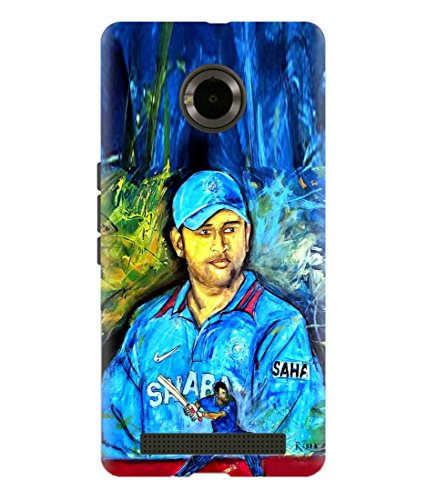 Print Vale Our Hero MS DHONI/MAHI for MSD Fans Latest Collection Designer Printed Polycarbonate Matte Finish Hard Back Case Cover for YU Yunique