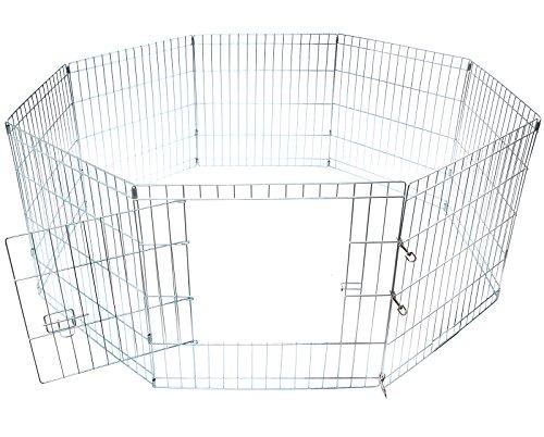 EUGAD Welpenauslauf Freigehege Laufgitter Welpenzaun Laufstall Hunde aus 8 Elementen Tier 60x63cm 197HT